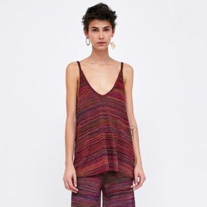 Zara Knit Colourful Loose Fit Tank Top